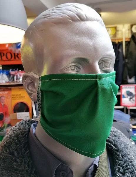 Nase-,Mundmaske m. Gummizug - nicht zertifiziert grün