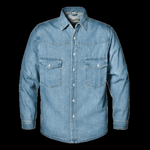 Jeans Langarm-Hemd stonewashed 100% Baumwolle