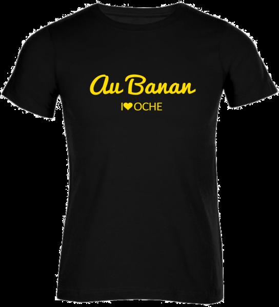 """""""AU BANAN"""" curved - schwarzes Herren T-Shirt"""