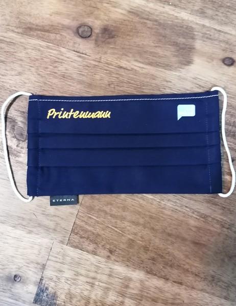 Printenmann Behelfsmaske in marine Eterna 100% Baumwolle