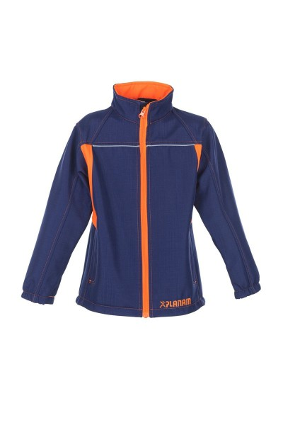Kinder Softshelljacke marine/orange