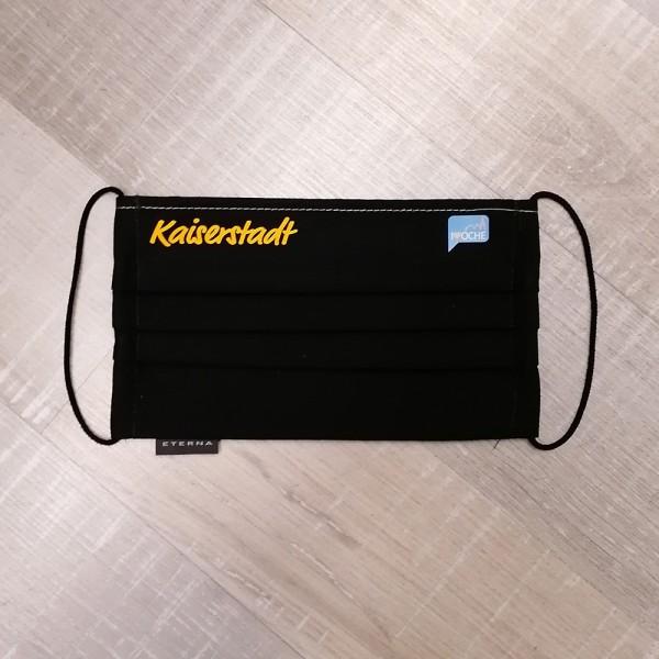 Kaiserstadt schwarze Behelfsmaske Eterna 100% Baumwolle