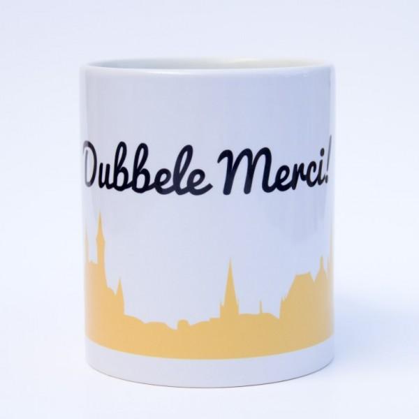 """DUBBELE MERCI"" - Tasse"