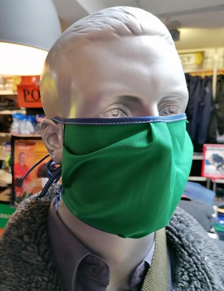 Nase-,Mundmaske m. Bindeband - nicht zertifiziert grün/blau