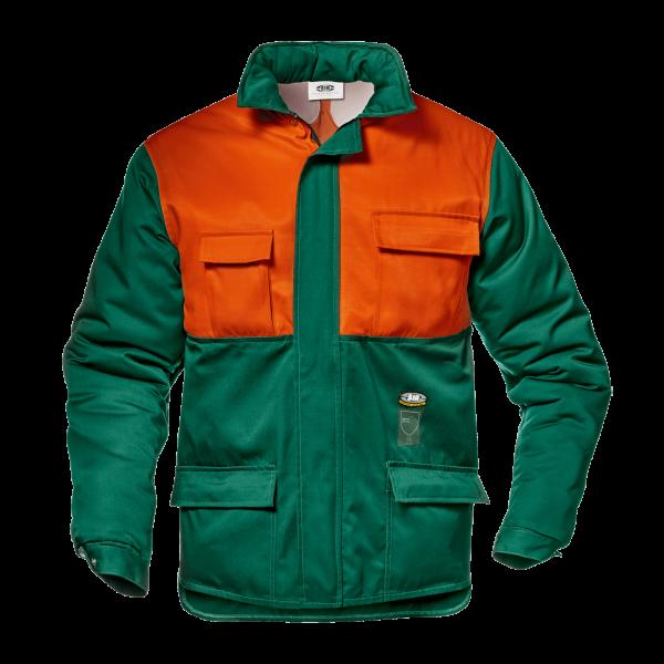 Schnittschutz-Jacke Klasse 1-180° Dunkelgrün/orange EN381-11