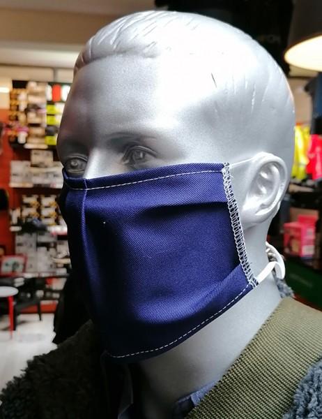 Nase-,Mundmaske m. Gummizug - nicht zertifiziert marine