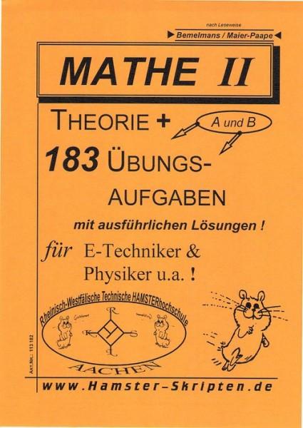 SERIE A - für E-Techniker, Physiker Mathe II
