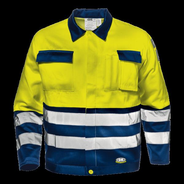 Velvet Color Warnschutz-Bundjacke Bw/pol.gelb/blau EN20471