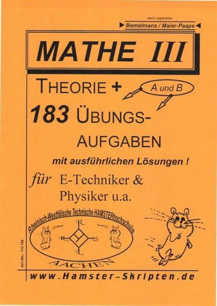 SERIE A - für E-Techniker, Physiker Mathe III