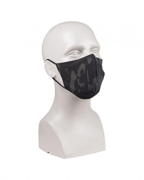 Mund / Nasenmaske Multitarn/Black mit Nasenbügel V-SHAPE