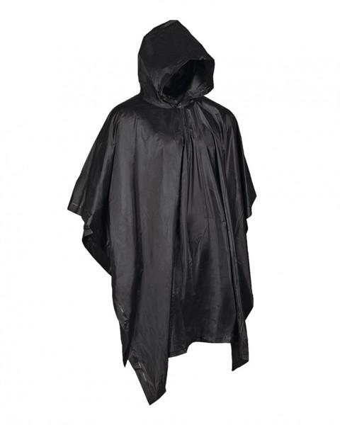 Regenponcho schwarz