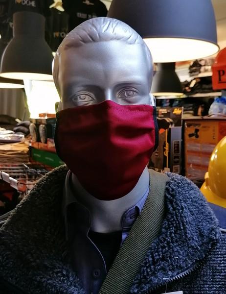 Nase-,Mundmaske m. Gummiband - nicht zertifiziert bordeaux