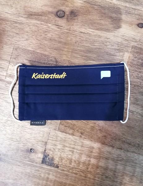 Kaiserstadt Behelfsmaske in marine Eterna 100% Baumwolle