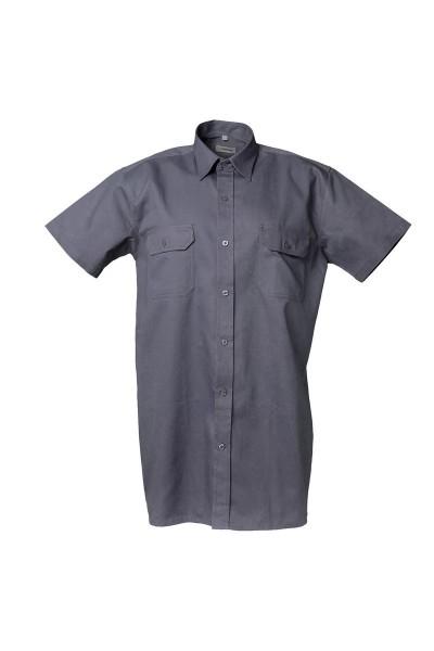 Köperhemd 0405 1/4 Arm Farbe grau