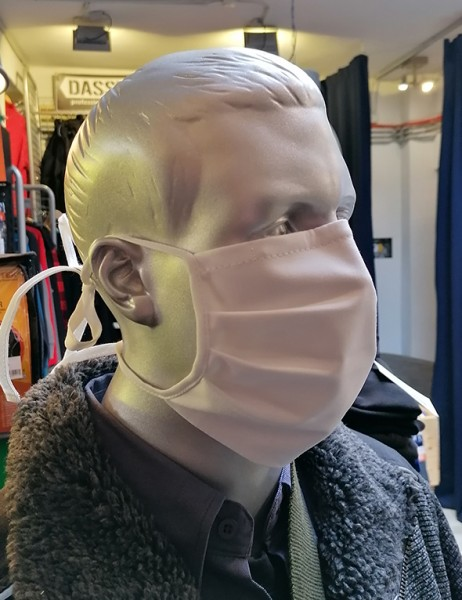 Nase-,Mundmaske m. Bindeband - nicht zertifiziert weiß